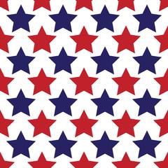 Seamless star wallpaper.  Patriot American pattern.  Seamfree vector wallpaper
