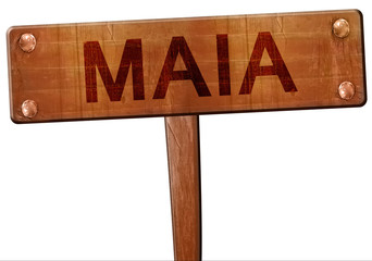Maia road sign, 3D rendering