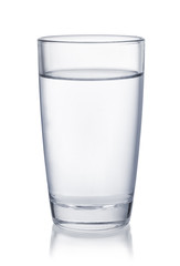 Front view of water glass