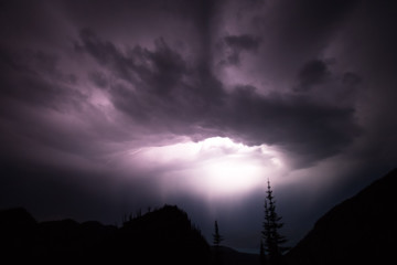 Lightening storm, Glacier National Park, United States of America