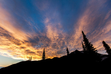 Scenic view of sunset at Glacier National Park Fototapete