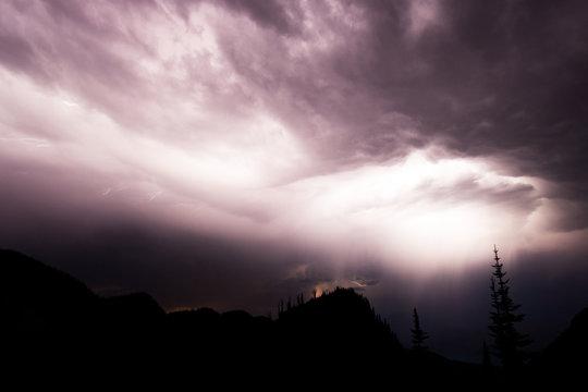Lightening storm, Glacier National Park, United States of America