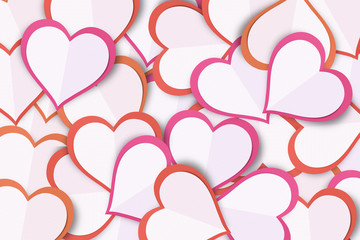 Paper Love Heart Background