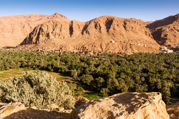 Kasbah near Tinerhir at the road to the Gorges du Dades, Morocco