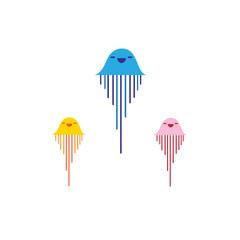 Vector jellyfish sign