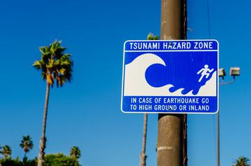 Tsunami Hazard Zone - Warning