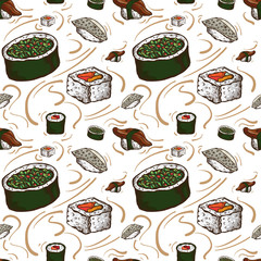 pattern sushi drawing graphic  design objects wallpaper