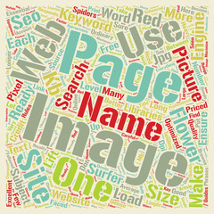 SEO For Images On Web Sites text background wordcloud concept