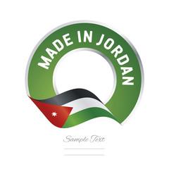 Made in Jordan flag green color label button banner