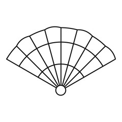 Fan icon, outline style