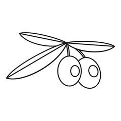 Olives icon, outline style