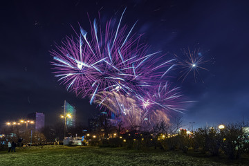 New years Eve in Warsaw, Poland