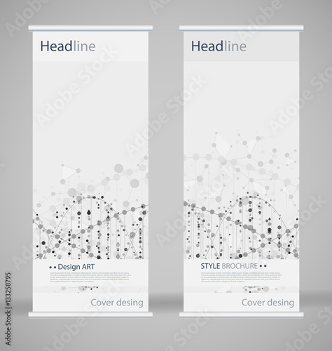 Brochure cover design abstract roll up modern poster for Fancy brochure templates