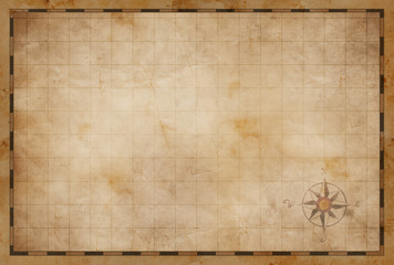 Wall Mural - old blank map background