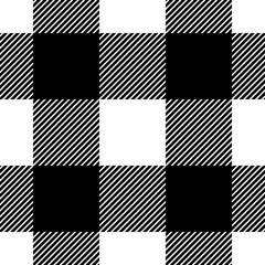 Seamless modern buffalo plaid pattern. Classic tartan vector background