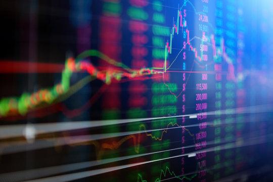 Statistic graph stock market data and finance indicator analysis