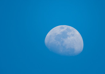 Half Moon during the Day in Blue Sky