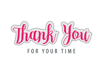 Thank You Lettering for Multi purpose
