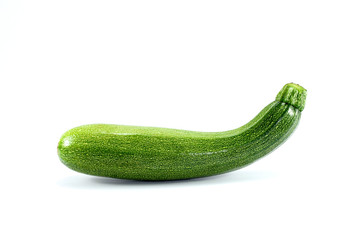 Fresh  zucchini isolated on a white background.