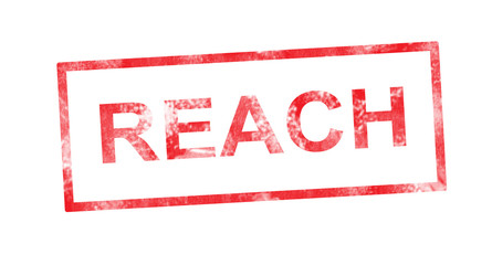 Reach in red rectangular stamp