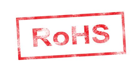 RoHS in red rectangular stamp
