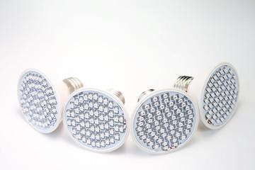AC LED lamp on white board background.