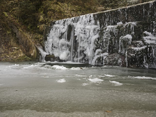 Icy waterfall, Vereister Wasserfall