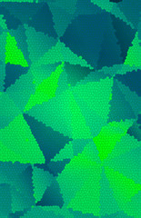 Abstract  green mosaic polygonal background