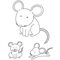 vector set of mouse