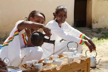 Die traditionelle Kaffee Zeremonie in Äthiopien