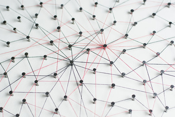 Linking entities. Network, networking, social media, internet co