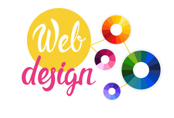Graphic Web Design Creative Banner Flat Vector Illustration