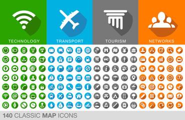 140 icônes pour internet