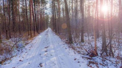 Piękny zimowy krajobraz