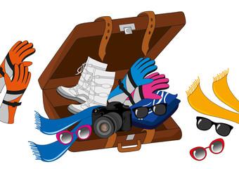 valigia viaggio inverno