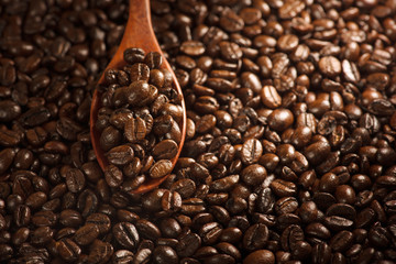 Coffee beans background. Coffee.