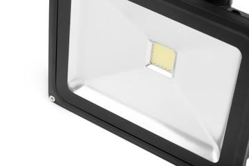 led floodlight on white background
