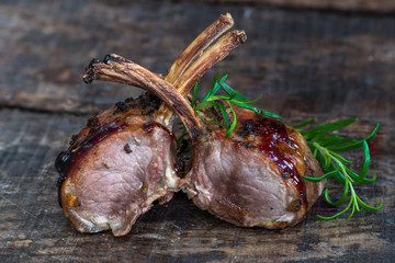 Roasted rack of lamb