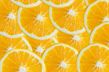 Slice of Orange isolate background