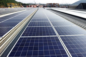 Solar PV Rooftop System Industrial Background