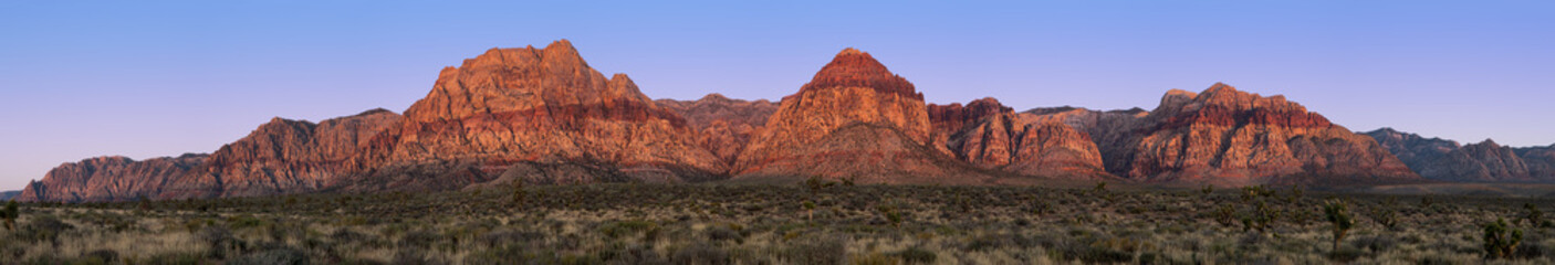 La pose en embrasure Parc Naturel Red Rock Canyon pano