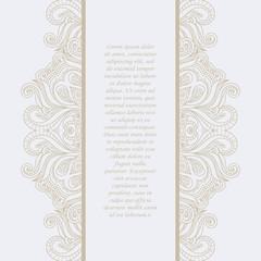 Vintage frame. Decorative vector design elements.