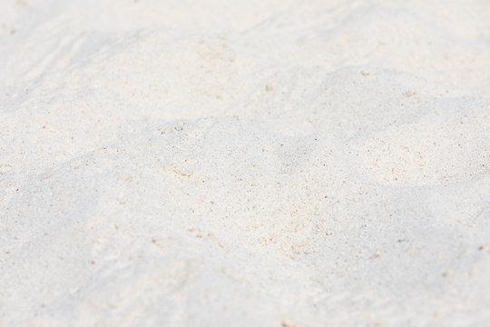 white sand on the beach