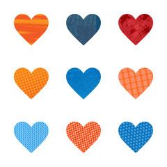 Textured hearts