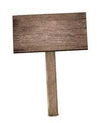 Holzschild im Boden