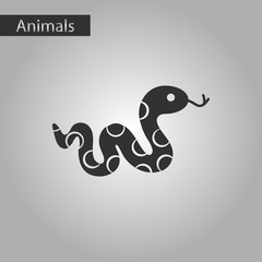 black and white style icon reptile snake