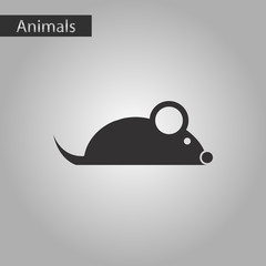 black and white style icon mouse