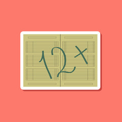 paper sticker on stylish background diary Mark