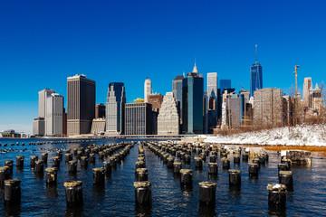 Winter in Low Manhattan skyline