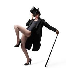 Dancer posing in black